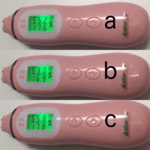 アスタリエのスキンチェッカーでパンを測定した時の数値