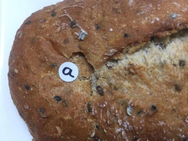 試料としてパンの3点を測定してみましたが、パンが耐えられず凹んでしまいました