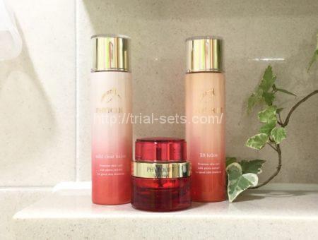 拭き取り化粧水、化粧水、美容クリームの3点セット