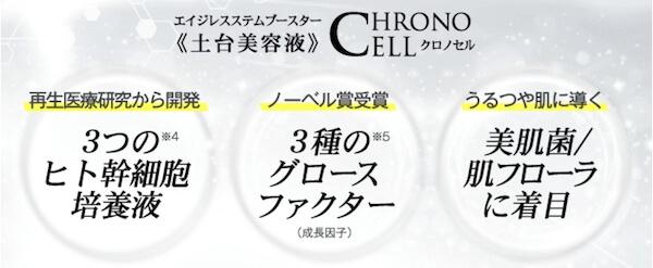 クロノセルの特徴